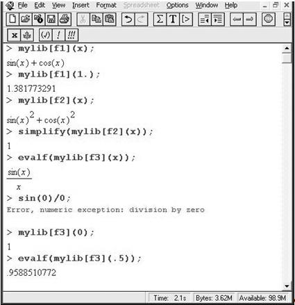 Развитие умений программирования c использованием пакета Maple при обучении информатике на профильном уровне
