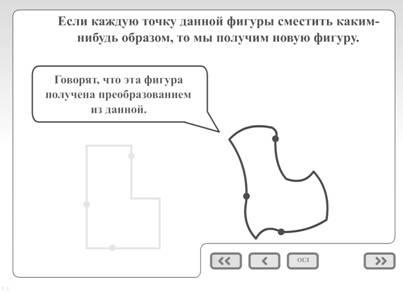 Использование мультимедийных средств при изучении основных свойств движений в курсе планиметрии основной школы