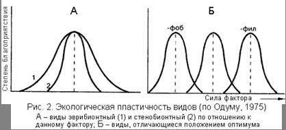 Роль экологических факторов в динамике численности организмов