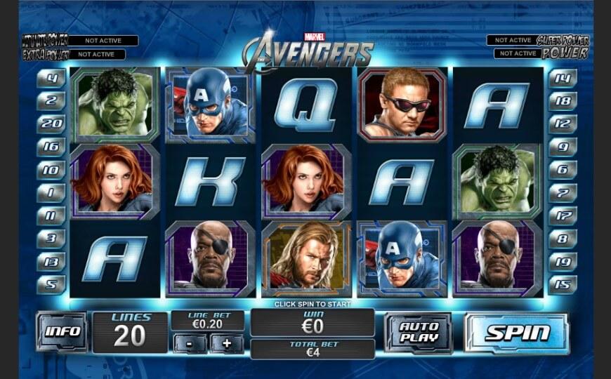 bigscreen-The-Avengers-Playtech
