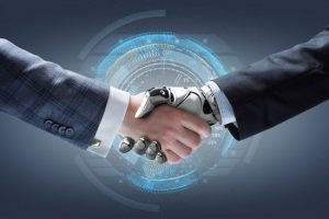 stock-photo-businessman-and-robot-s-handshake-with-holographic-earth-globe-on-background-artificial-317361941-650x433